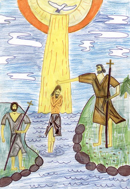 рисунок о рождестве и крещении руси створки-купе